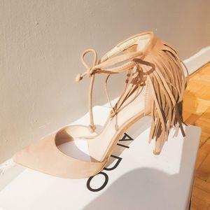 Aldo Venosta pointy toe with fringe detail